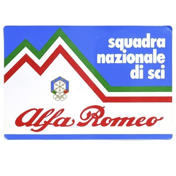 F.I.S.I.スキーチーム supported by Alfa Romeoステッカー itazatsu