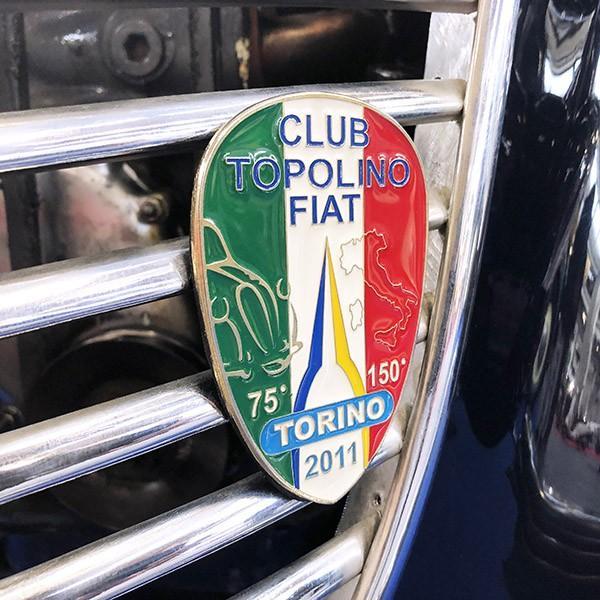 TOPOLINO 75周年&イタリア統一150周年メモリアルエンブレム by CLUB TOPOLINO FIAT TORINO|itazatsu