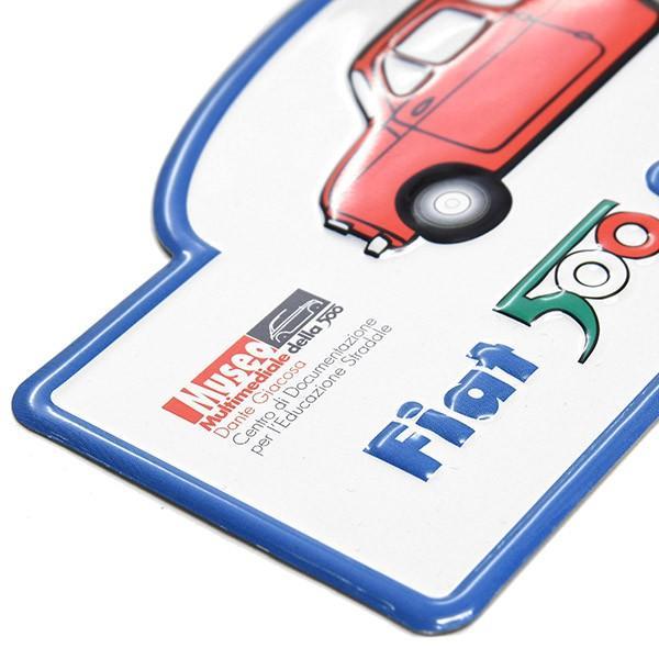 フィアット FIAT 500 CLUB ITALIAラリープレート(ホワイト)|itazatsu|04