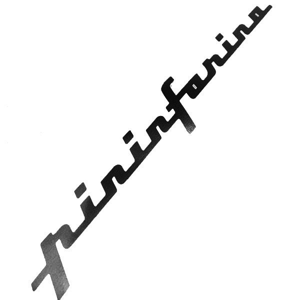 ピニンファリーナ ロゴステッカー(ブラック/切り文字タイプ/317mm)|itazatsu|02