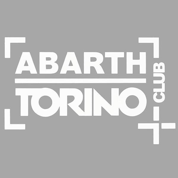 アバルト CLUB ABARTH TORINOステッカー(切り文字タイプ/ホワイト)|itazatsu