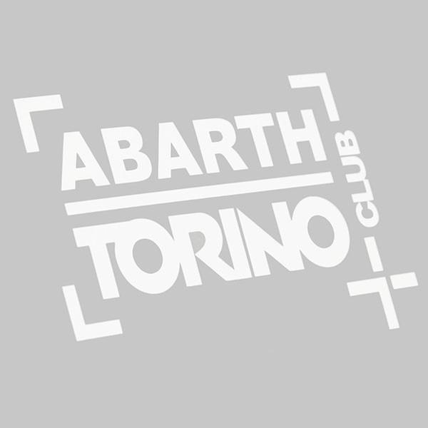 アバルト CLUB ABARTH TORINOステッカー(切り文字タイプ/ホワイト)|itazatsu|02
