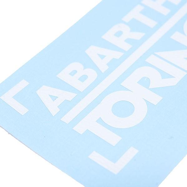 アバルト CLUB ABARTH TORINOステッカー(切り文字タイプ/ホワイト)|itazatsu|03