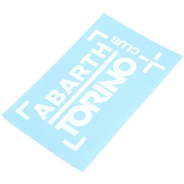アバルト CLUB ABARTH TORINOステッカー(切り文字タイプ/ホワイト)|itazatsu|04
