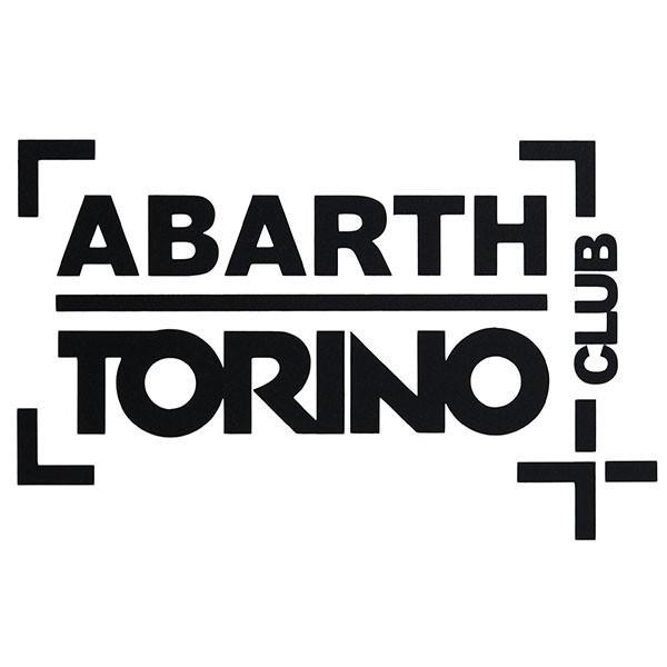 アバルト CLUB ABARTH TORINOステッカー(切り文字タイプ/ブラック)|itazatsu