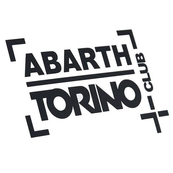 アバルト CLUB ABARTH TORINOステッカー(切り文字タイプ/ブラック)|itazatsu|02
