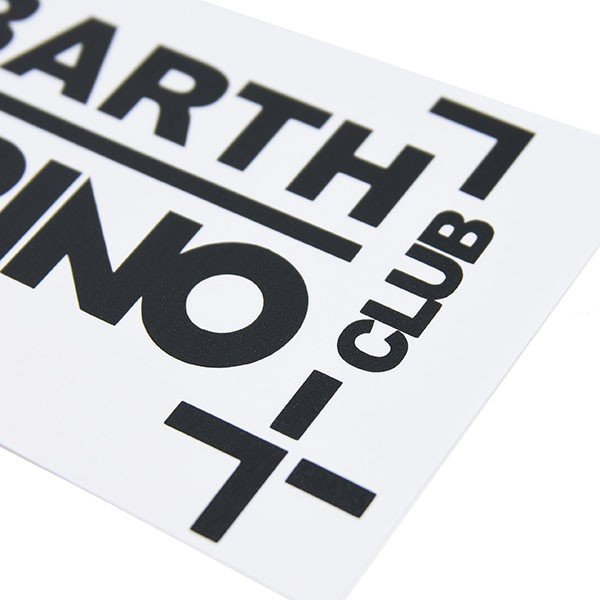 アバルト CLUB ABARTH TORINOステッカー(切り文字タイプ/ブラック)|itazatsu|04