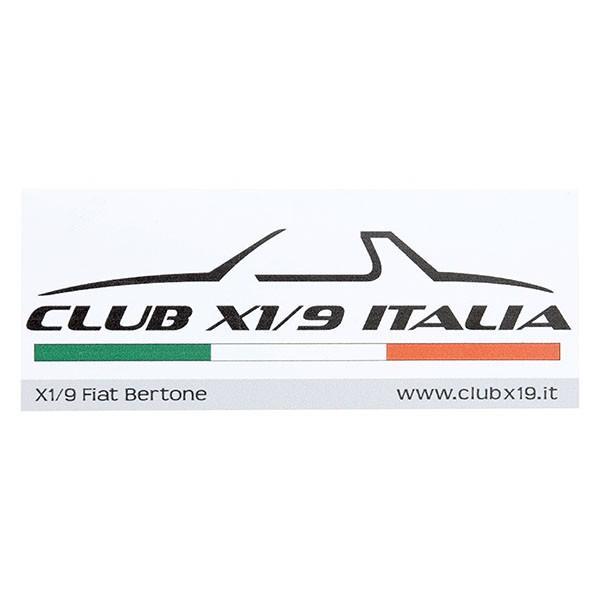 フィアット  CLUB FIAT X1/9 ITALIAステッカー|itazatsu