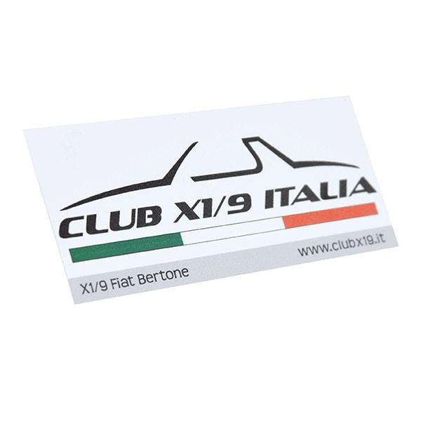フィアット  CLUB FIAT X1/9 ITALIAステッカー|itazatsu|02