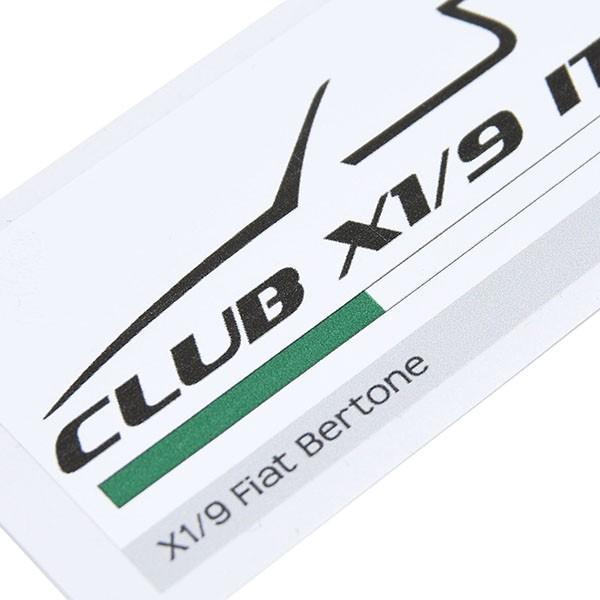 フィアット  CLUB FIAT X1/9 ITALIAステッカー|itazatsu|03