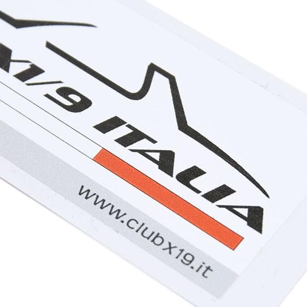 フィアット  CLUB FIAT X1/9 ITALIAステッカー|itazatsu|04