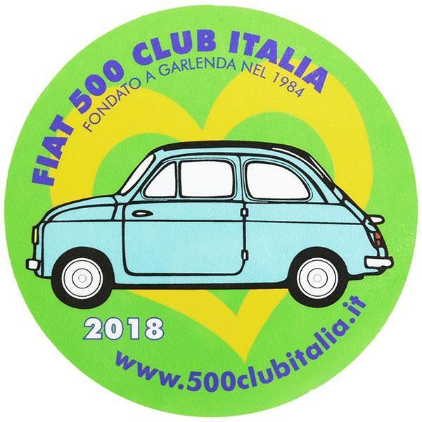 フィアット FIAT 500 CLUB ITALIA 2018ステッカー(裏貼りタイプ)|itazatsu