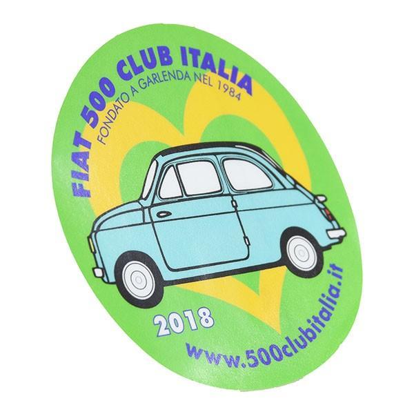 フィアット FIAT 500 CLUB ITALIA 2018ステッカー(裏貼りタイプ)|itazatsu|02