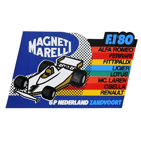 MAGNETI MARELLI純正F1 1980年オランダGPステッカー|itazatsu