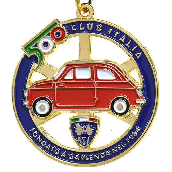 フィアット FIAT 500 CLUB ITALIAエンブレム形バッグチャーム(ブルー)|itazatsu|03
