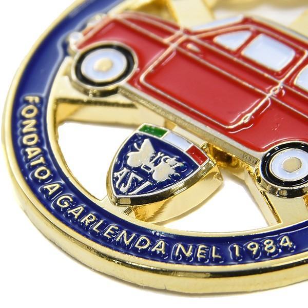フィアット FIAT 500 CLUB ITALIAエンブレム形バッグチャーム(ブルー)|itazatsu|05