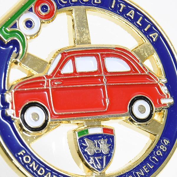 フィアット FIAT 500 CLUB ITALIAエンブレム形バッグチャーム(ブルー)|itazatsu|06