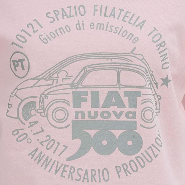 フィアット 500 60周年メモリアルスタンプTシャツ(ピンク)|itazatsu|03