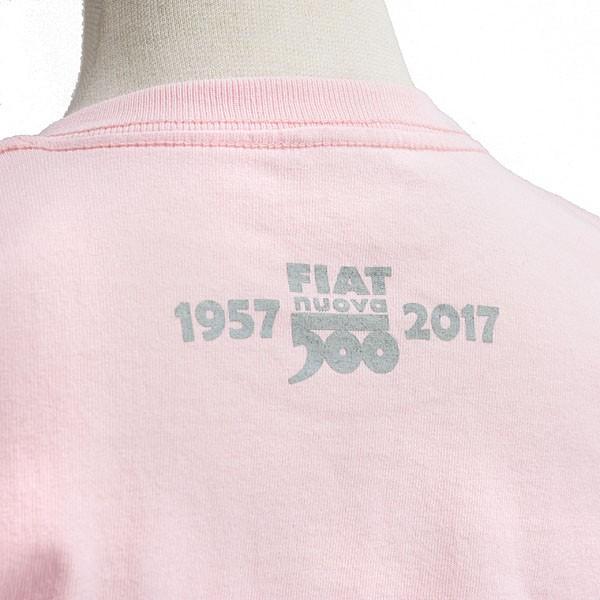 フィアット 500 60周年メモリアルスタンプTシャツ(ピンク)|itazatsu|04