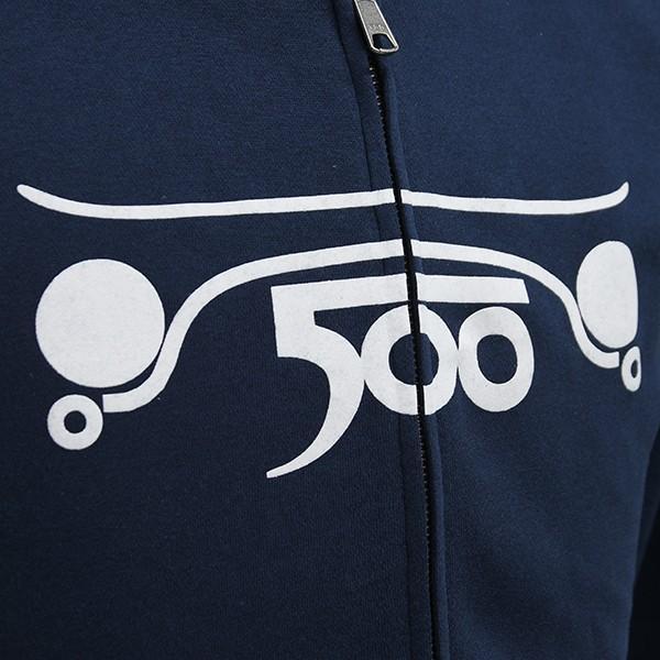 フィアット FIAT 500 CLUB ITALIAフード付きフェルパ(ネイビー)|itazatsu|05