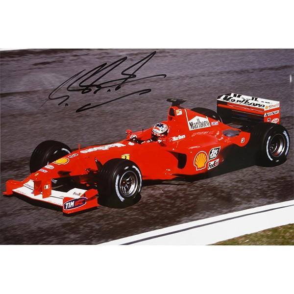 フェラーリ純正 Scuderia Ferrariオリジナル2000年WC記念クロームフォト ※シューマッハ直筆サイン入り|itazatsu