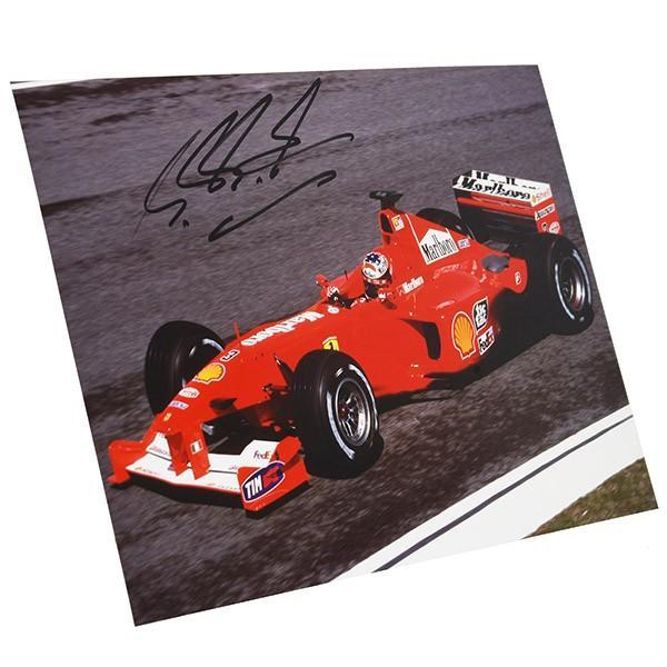 フェラーリ純正 Scuderia Ferrariオリジナル2000年WC記念クロームフォト ※シューマッハ直筆サイン入り|itazatsu|02