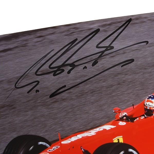 フェラーリ純正 Scuderia Ferrariオリジナル2000年WC記念クロームフォト ※シューマッハ直筆サイン入り|itazatsu|03