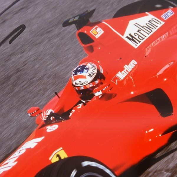 フェラーリ純正 Scuderia Ferrariオリジナル2000年WC記念クロームフォト ※シューマッハ直筆サイン入り|itazatsu|04
