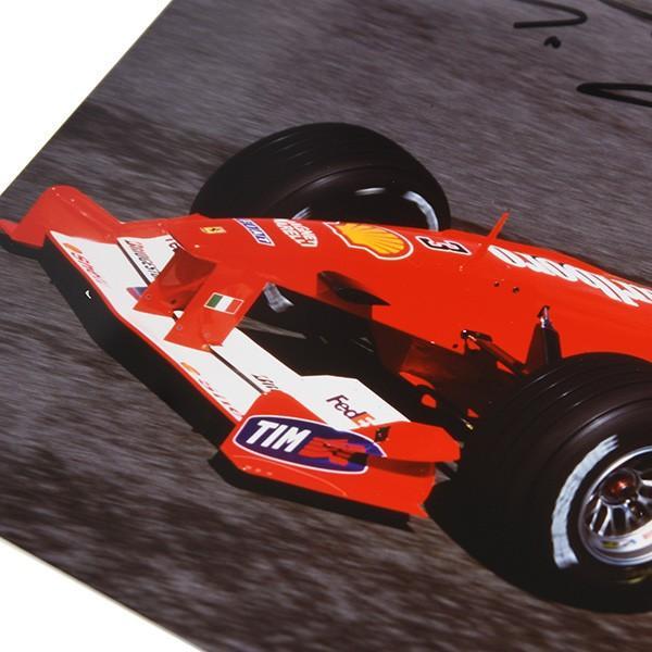 フェラーリ純正 Scuderia Ferrariオリジナル2000年WC記念クロームフォト ※シューマッハ直筆サイン入り|itazatsu|05