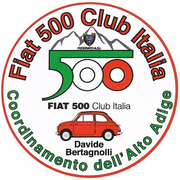 フィアット FIAT 500 CLUB ITALIA Alto Adigeステッカー|itazatsu