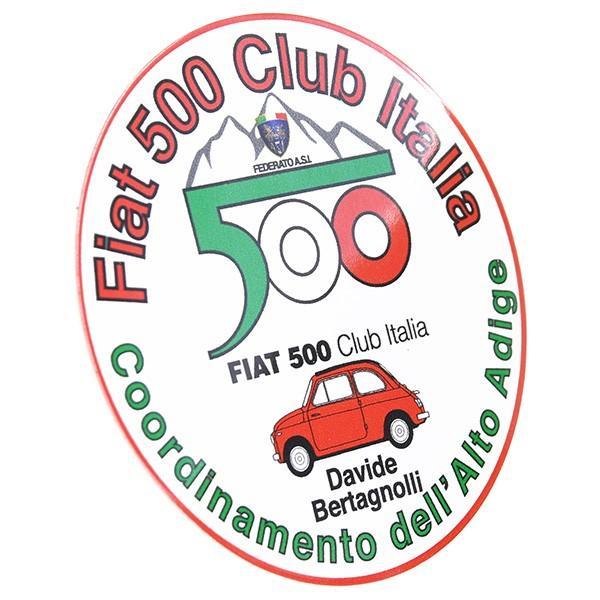 フィアット FIAT 500 CLUB ITALIA Alto Adigeステッカー|itazatsu|02