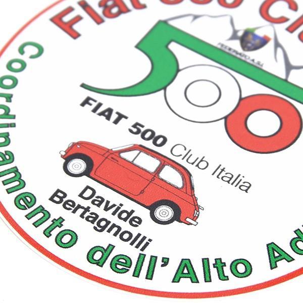 フィアット FIAT 500 CLUB ITALIA Alto Adigeステッカー|itazatsu|03