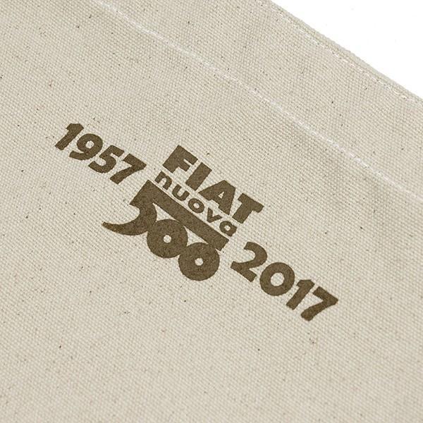 フィアット 500 60周年記念スタンプ柄トートバッグ-ナチュラル-|itazatsu|06