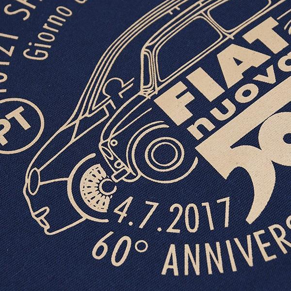フィアット 500 60周年記念スタンプ柄トートバッグ -ネイビー-|itazatsu|05