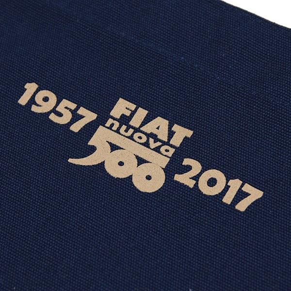 フィアット 500 60周年記念スタンプ柄トートバッグ -ネイビー-|itazatsu|06