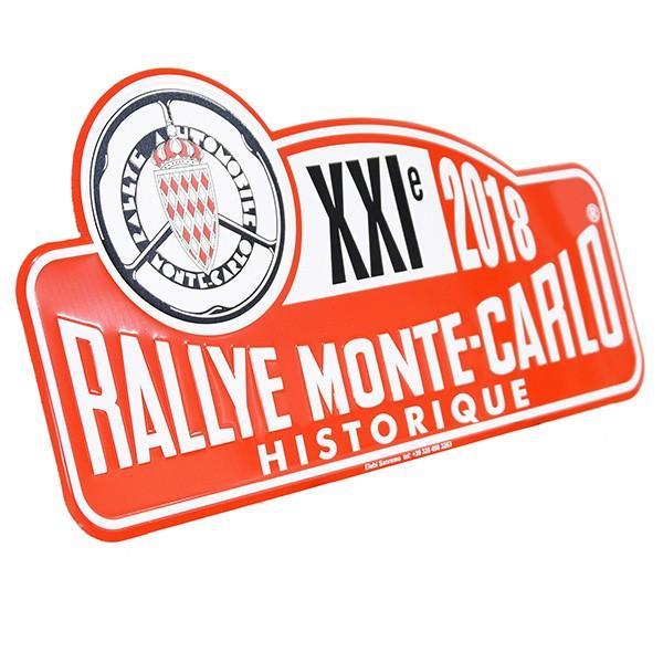 Rally Monte Carlo Historique2018オフィシャルメタルプレート(Large) itazatsu 02