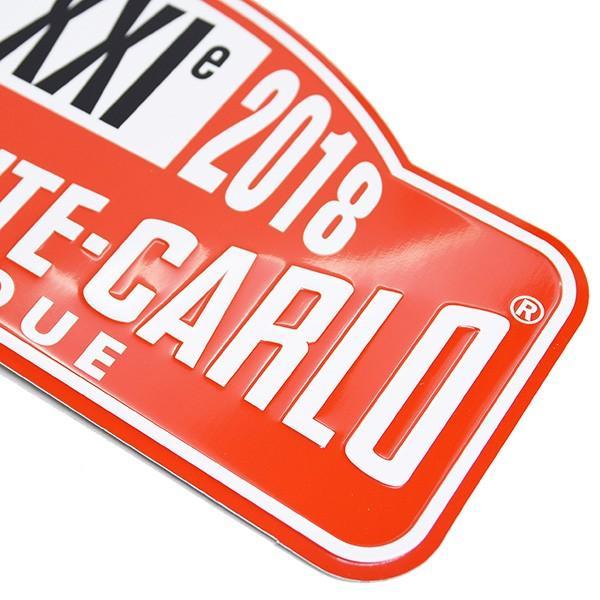 Rally Monte Carlo Historique2018オフィシャルメタルプレート(Large) itazatsu 03
