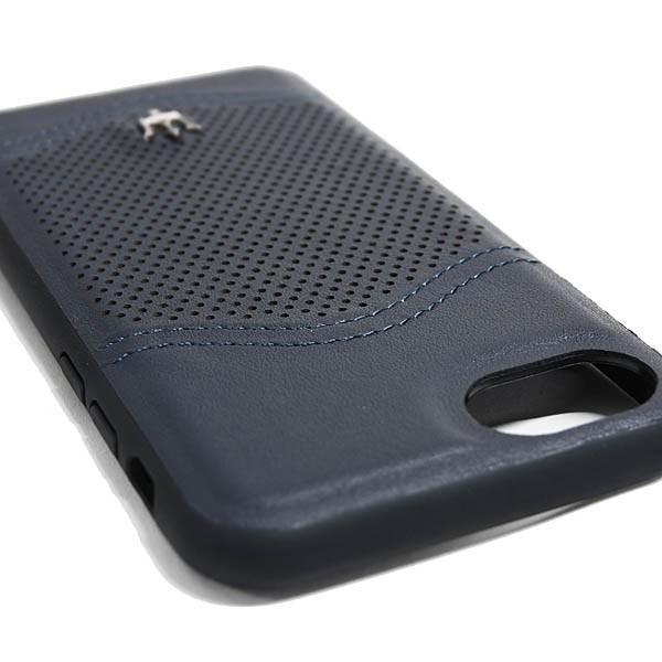 MASERATI純正 iPhone 6/6s/7/8レザー背面ケース-GRANLUSSO/ブルー|itazatsu|05