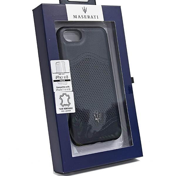 MASERATI純正 iPhone 6/6s/7/8レザー背面ケース-GRANLUSSO/ブルー|itazatsu|07