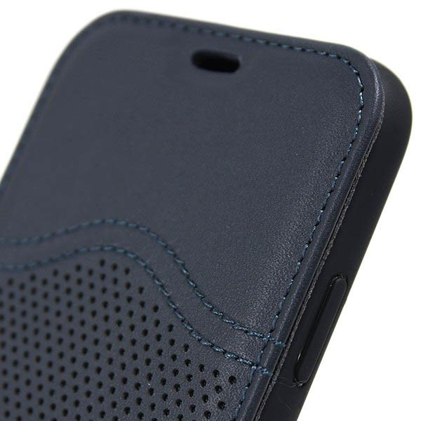 MASERATI純正 iPhone 6/6s/7/8ブックタイプレザーケース-GRANLUSSO/ブルー|itazatsu|06