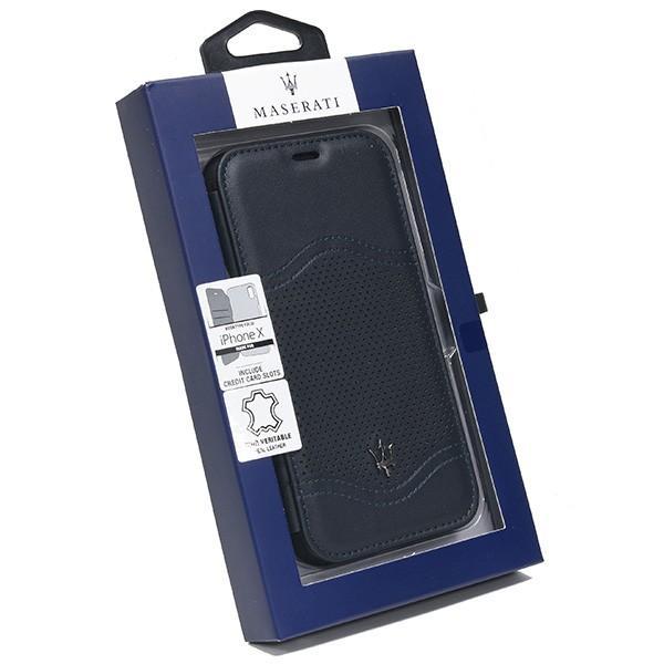 MASERATI純正 iPhone 6/6s/7/8ブックタイプレザーケース-GRANLUSSO/ブルー itazatsu 08