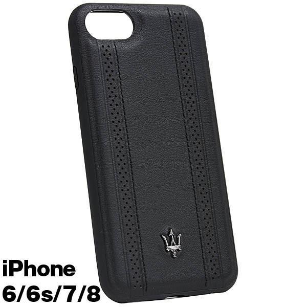 MASERATI純正 iPhone 6/6s/7/8レザー背面ケース-GRANLUSSO/ブラック|itazatsu