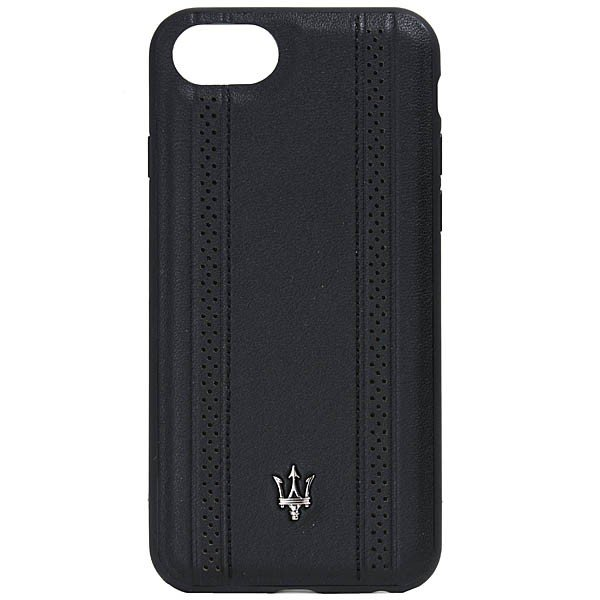 MASERATI純正 iPhone 6/6s/7/8レザー背面ケース-GRANLUSSO/ブラック|itazatsu|02