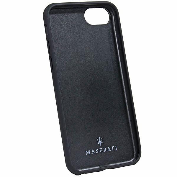 MASERATI純正 iPhone 6/6s/7/8レザー背面ケース-GRANLUSSO/ブラック|itazatsu|03
