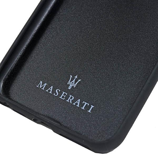 MASERATI純正 iPhone 6/6s/7/8レザー背面ケース-GRANLUSSO/ブラック|itazatsu|04