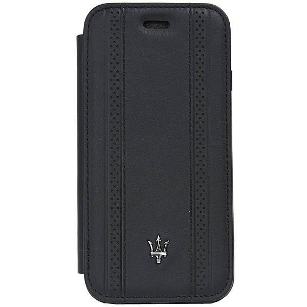 MASERATI純正 iPhone 6/6s/7/8ブックタイプレザーケース-GRANLUSSO/ブラック|itazatsu|02
