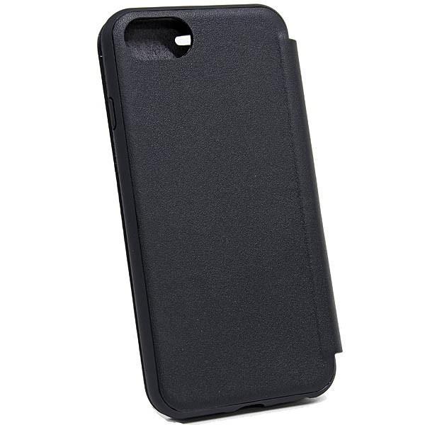 MASERATI純正 iPhone 6/6s/7/8ブックタイプレザーケース-GRANLUSSO/ブラック|itazatsu|03