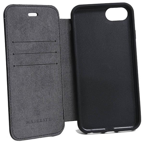 MASERATI純正 iPhone 6/6s/7/8ブックタイプレザーケース-GRANLUSSO/ブラック|itazatsu|04