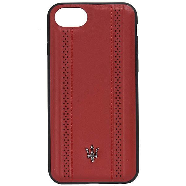 MASERATI純正 iPhone 6/6s/7/8レザー背面ケース-GRANLUSSO/レッド|itazatsu|02