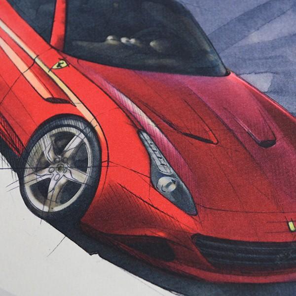 フェラーリ純正 488GTB/488Spider/California-T VIPゲスト記念品リトグラフセット|itazatsu|13